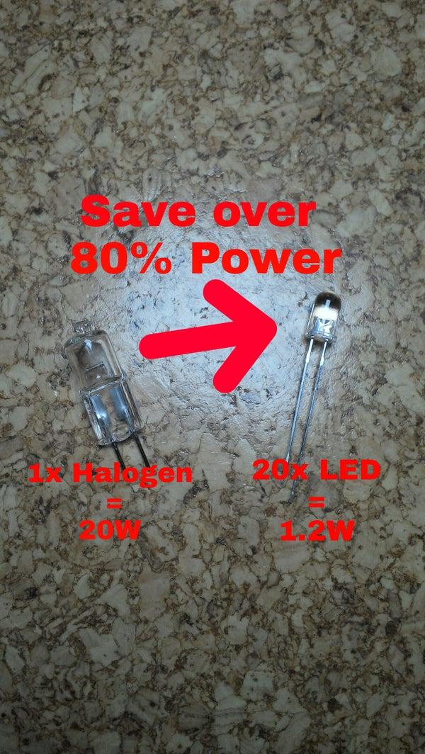 Convert Your Halogen Desk Lamp Into a LED Lamp