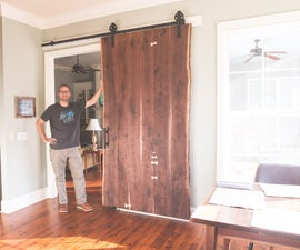 Live Edge Sliding Barn Door