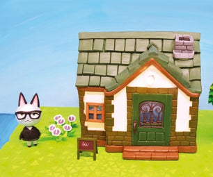Sculpt an Animal Crossing House and Villager Raymond