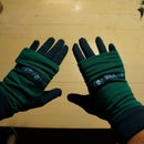 Two-color double-layered gloves