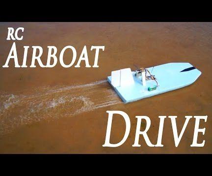 Foam RC Airboat Build DIY
