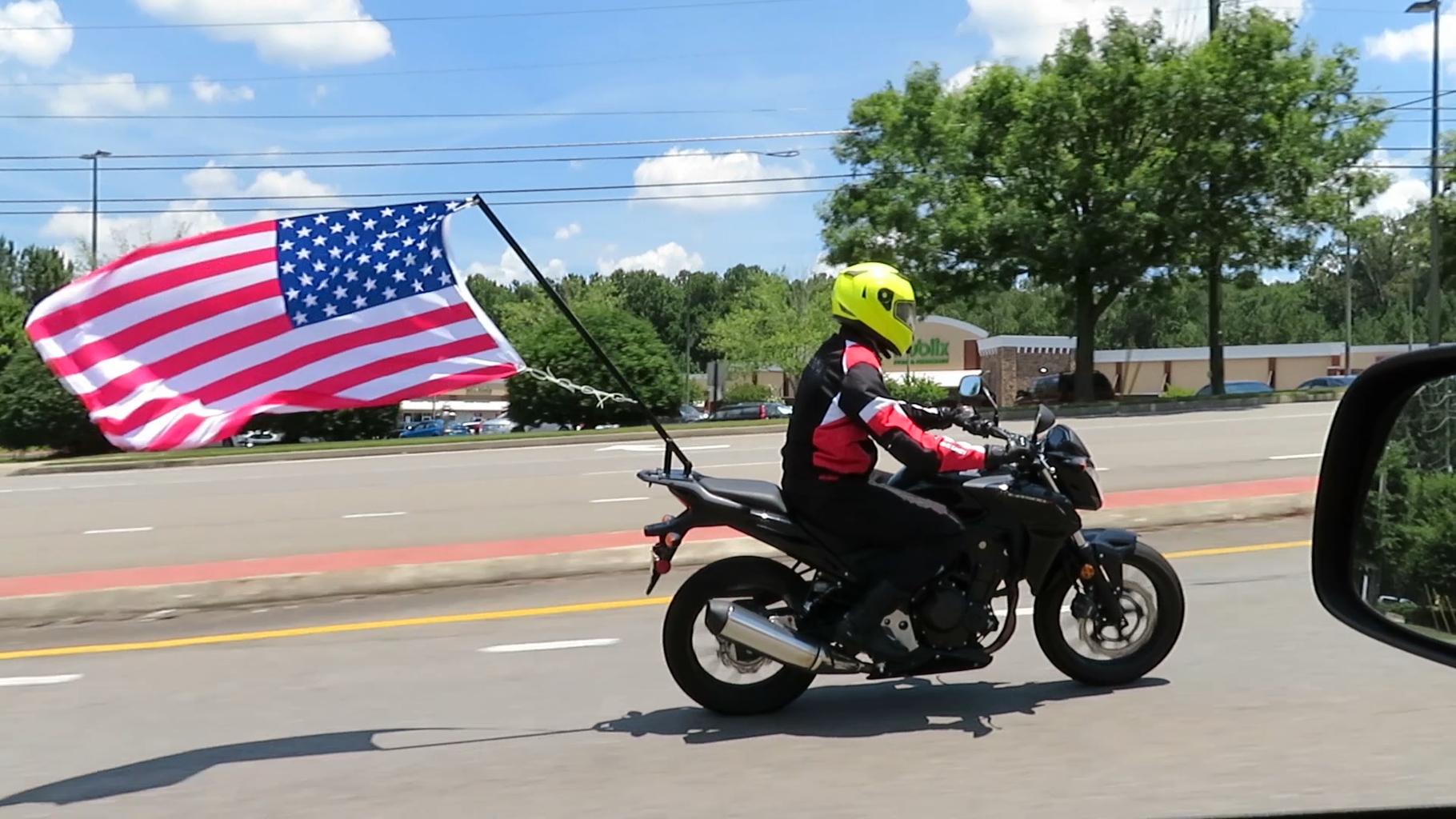 Huge Motorcycle Flag Pole