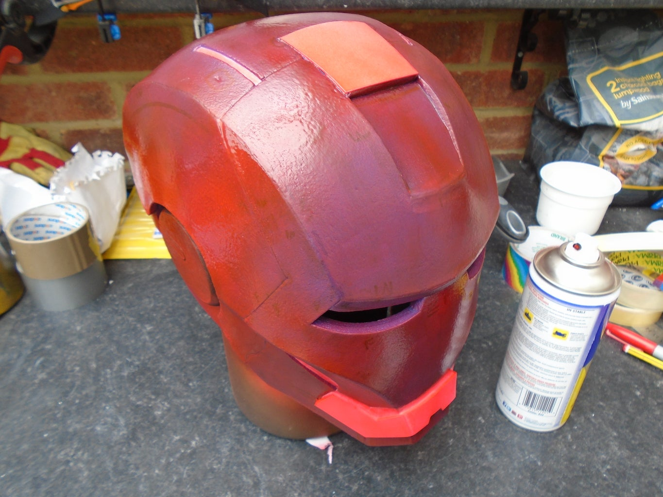 Red Paint and Masking