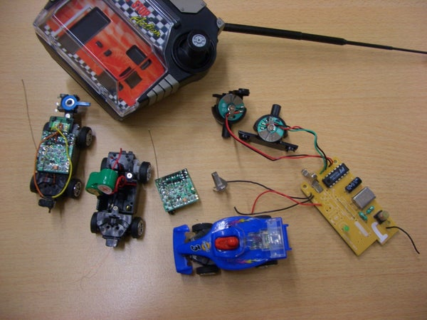 Using RC Car Parts As Remote Control