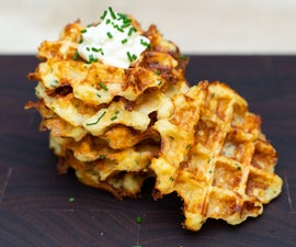 Cheesy Potato Waffles