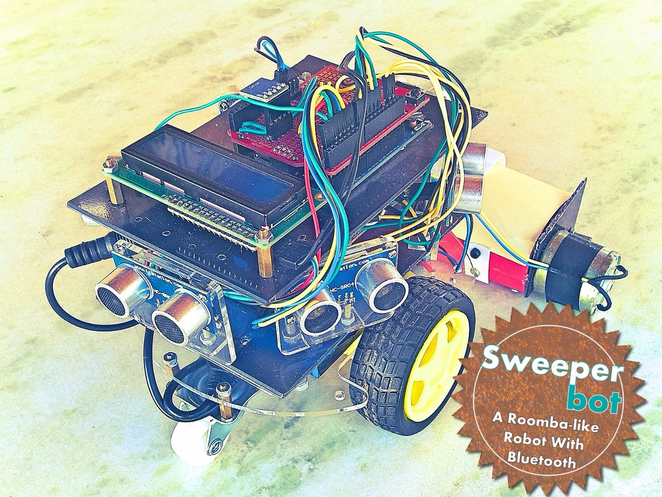Homemade Cleanning Robot With Bluetooth