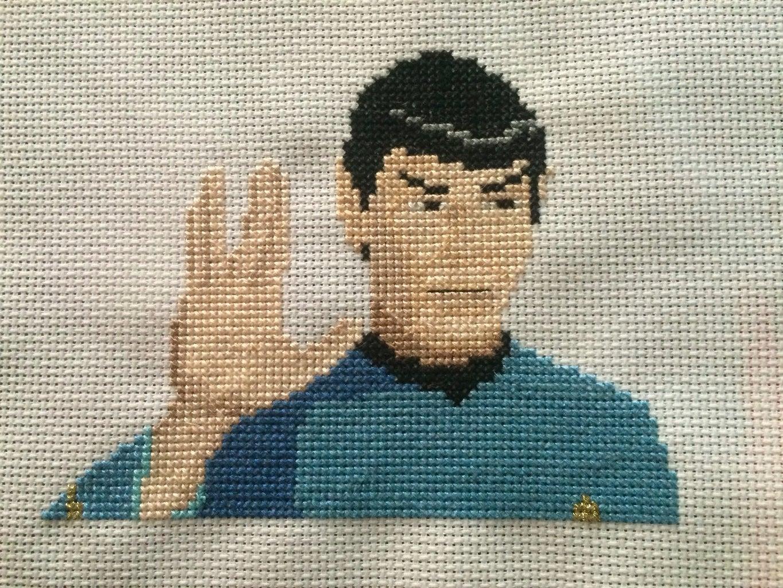 Star Trek Cross Stitch: Spock