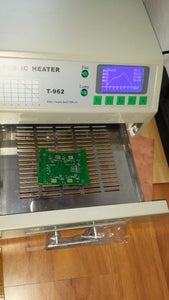 Place Board in Over on Spacers and Reflow