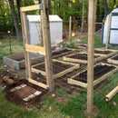 Small Scale Garden Fence with raised beds