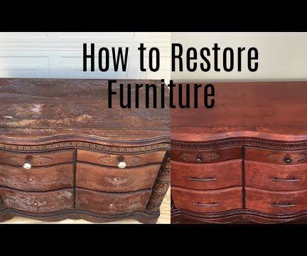 Furniture Restoration: Decoupage Removal
