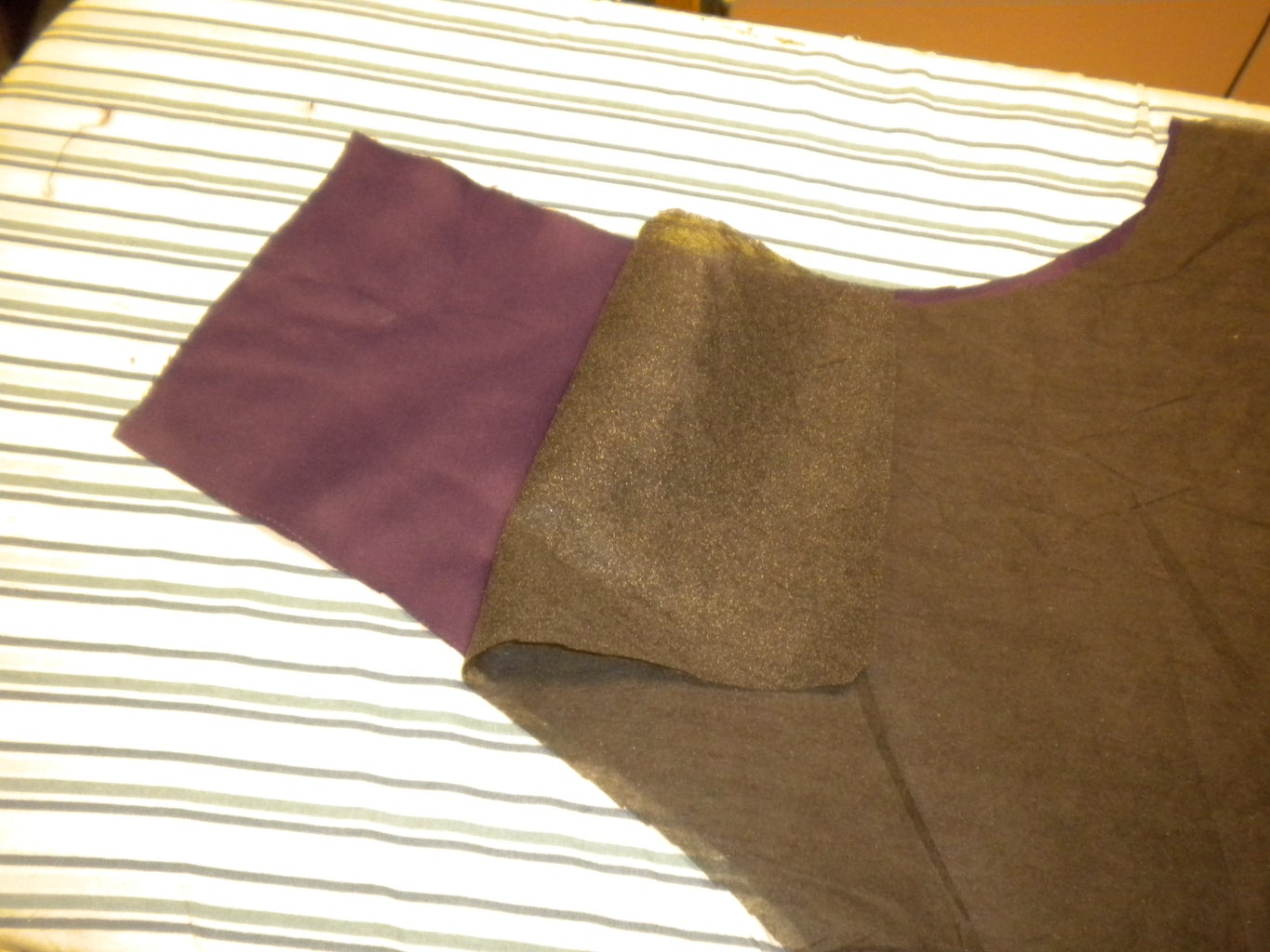 Fuse Interfacing to Front of Vest and Welt