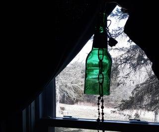 Reycling Glass and Jewelry Into Window Art