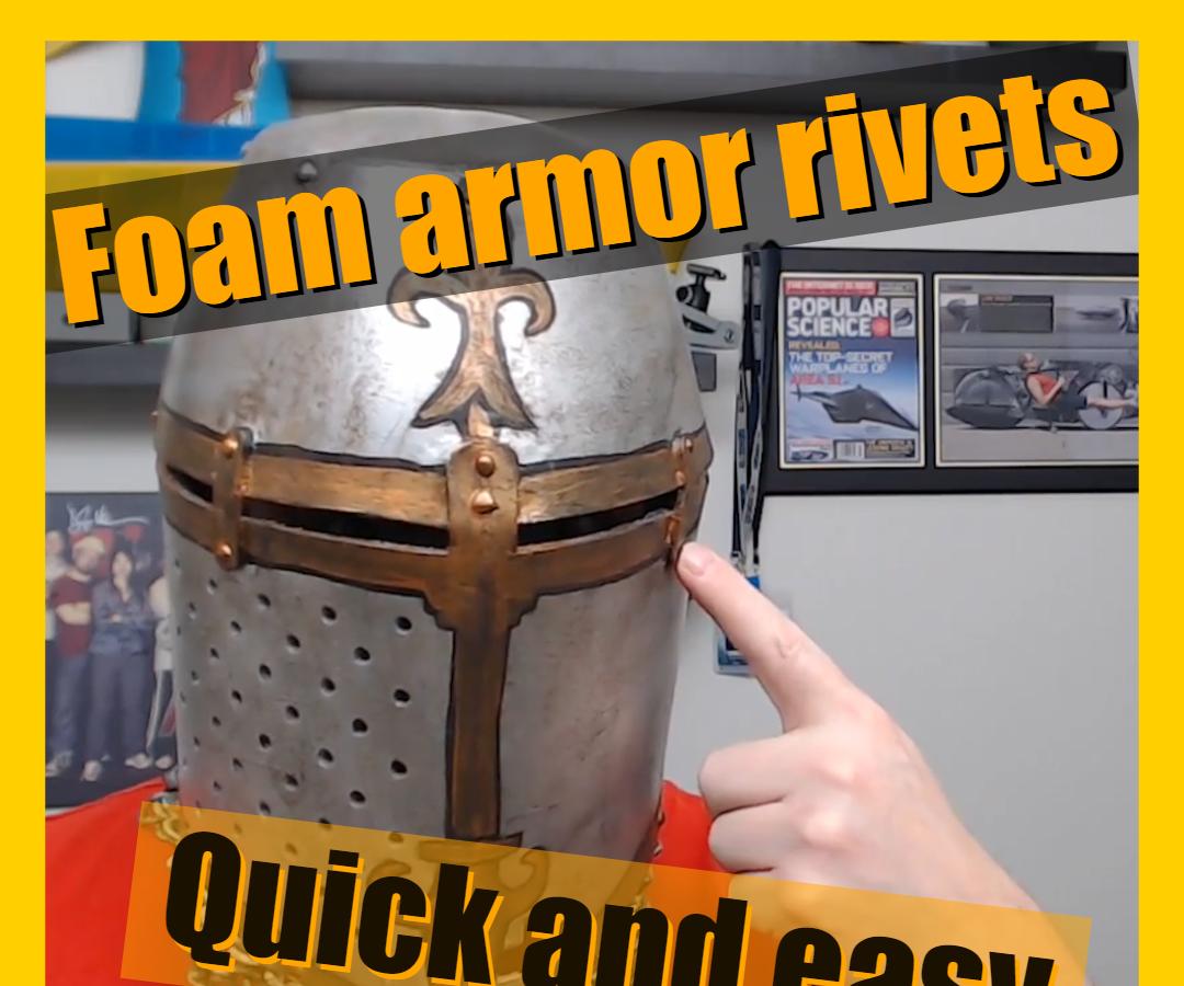 Easy Cosplay Foam Armor Rivets With a Glue Gun
