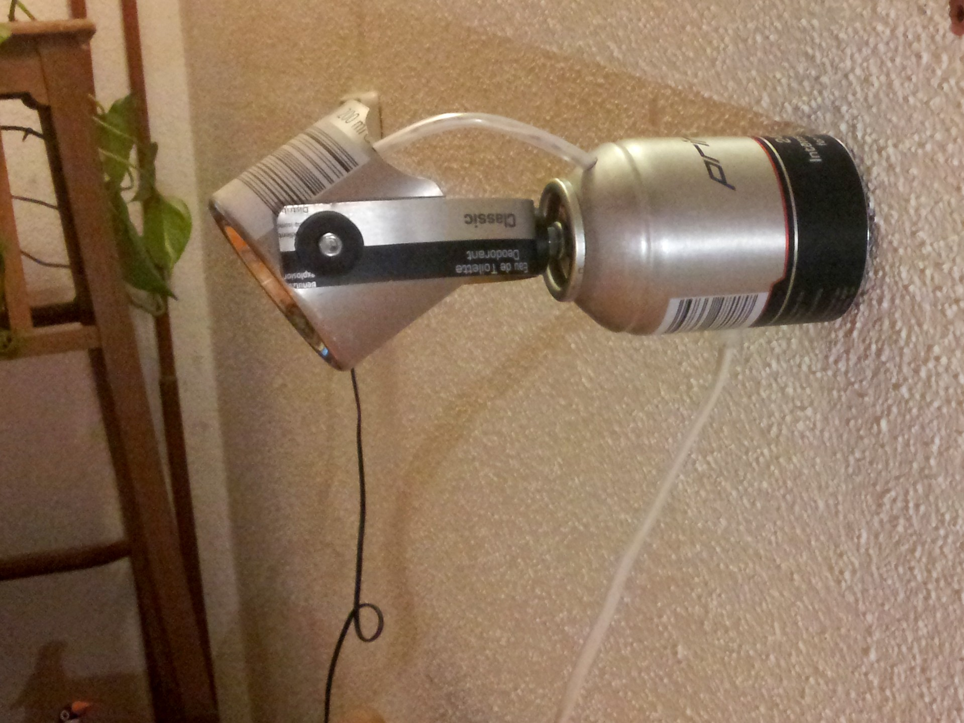 A fancy LED reading lamp made from a spray-can