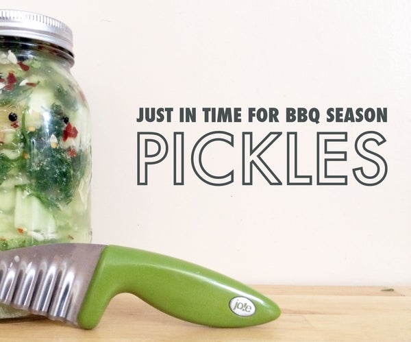 Just in Time for BBQ Season Homemade Pickles