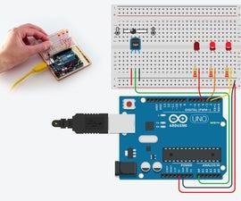 TMP36温度传感器在Tinkercad中与Arduino
