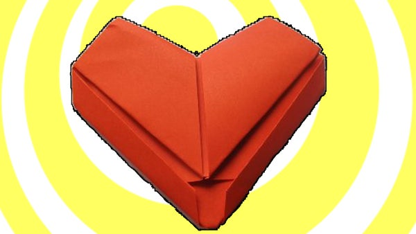 How to Make Easy Origami Heart - Video Tutorial
