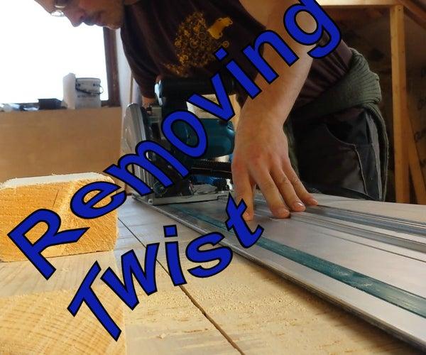 Fixing Twist in a Slab or Board