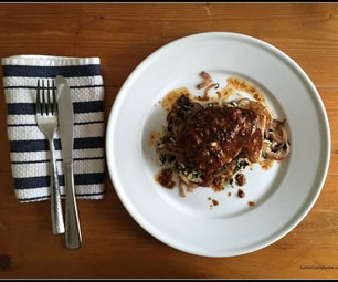 Savory Albacore Tuna Steak With Saffron Seaweed Rice and Golden Onions