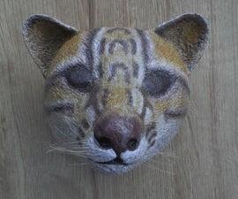 Paper Mache Wall Sculpture. ONCILLA (Leopardus Tigrinus)