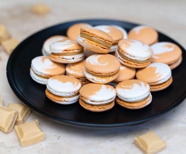 Caramilk Chocolate Macarons