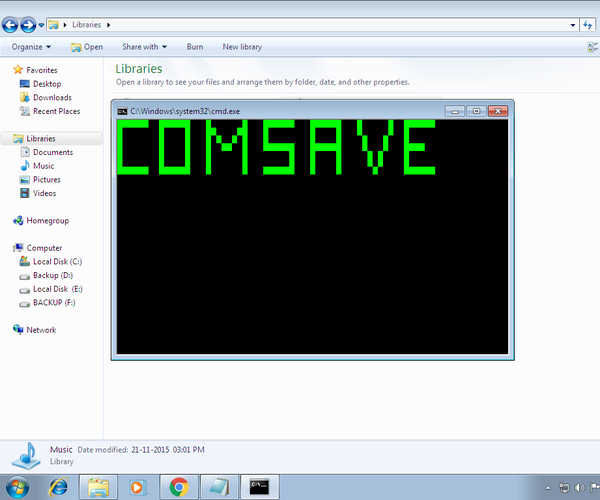 Comsave: Lock Your Notes (batch File App)