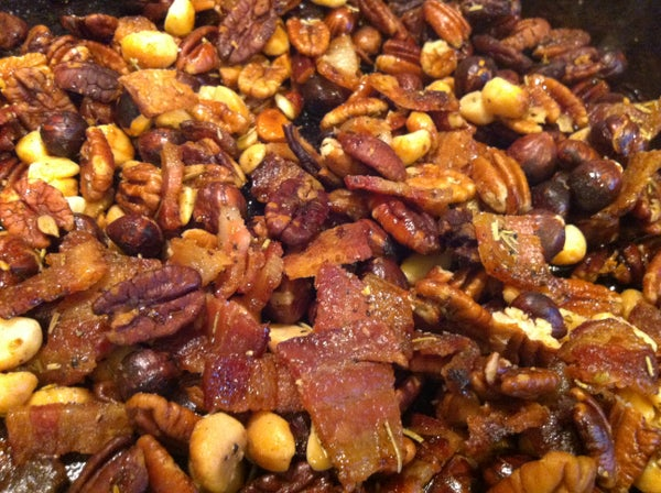 Roasted Bacon Herb Nuts!