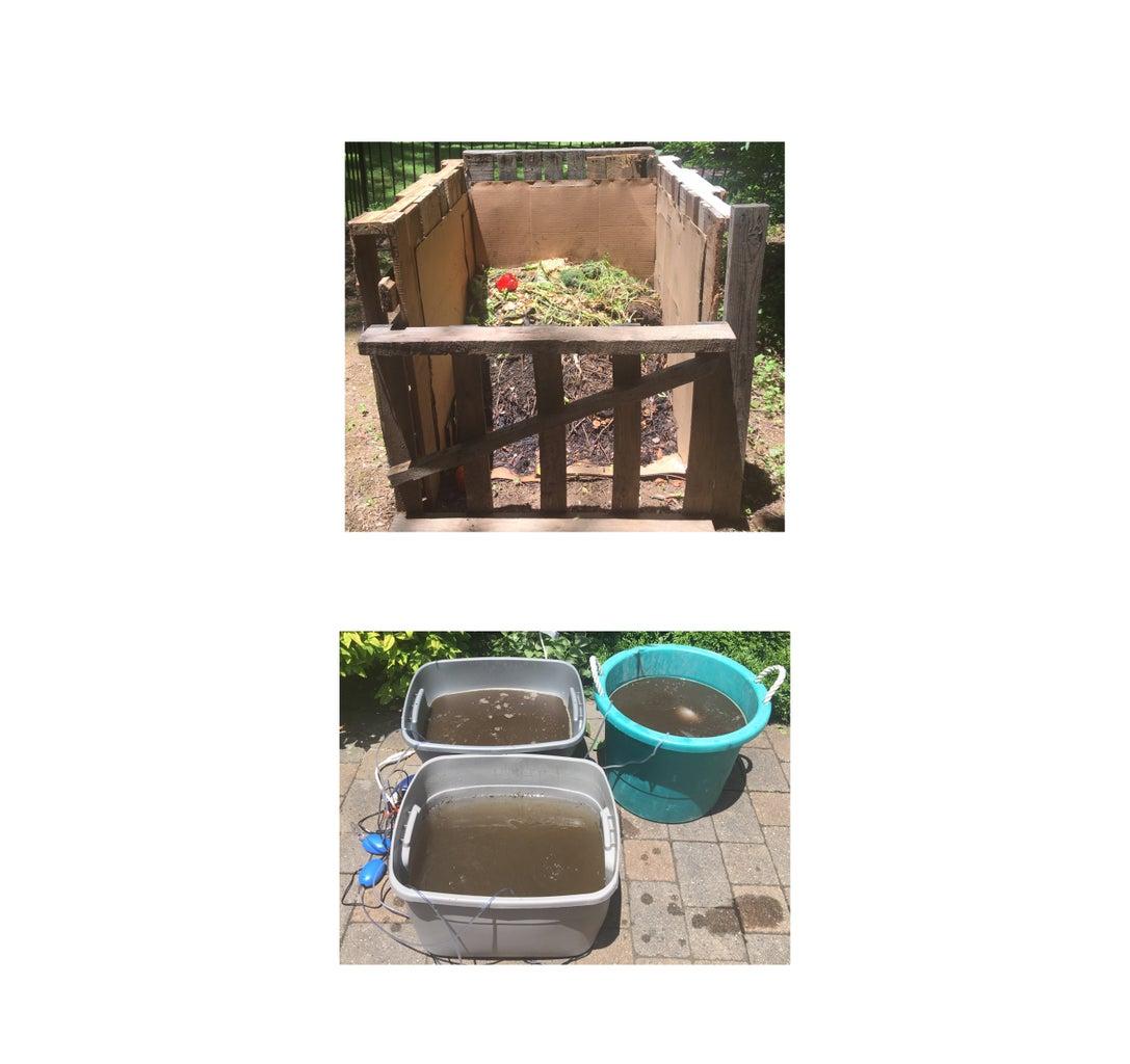 Compost Tea Fertilizer Brewer and Pallet Compost Bin