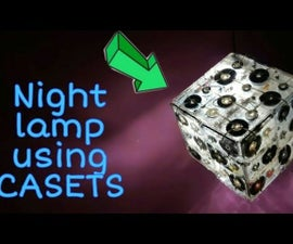 Night Lamp Made by the Old Tape Cassettes