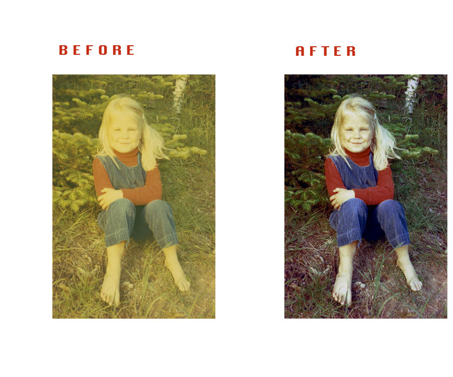Quickly Restore and Old Photo in Adobe Photoshop.