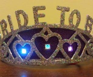 """Twinkling LED """"Bride-to-Be"""" Bachelorette Tiara"""