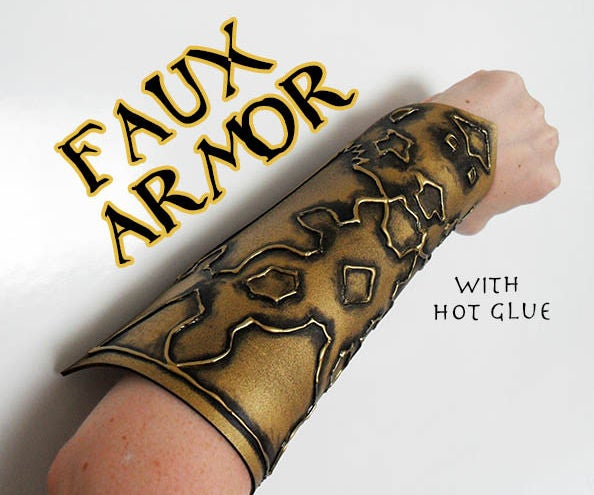 Embossed Faux Armor With Hot Glue