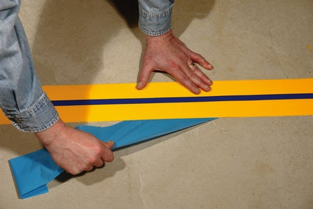 Apply Mighty Line Floor Tape/ Mighty Sign