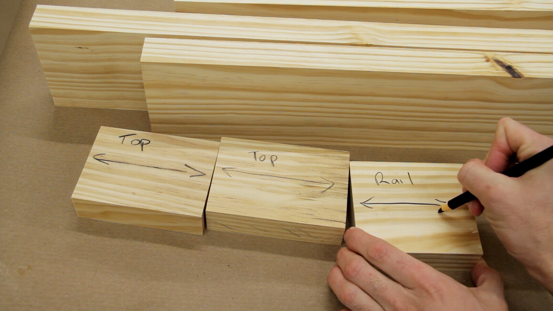 Preparing Boards for the Legs and Stretchers
