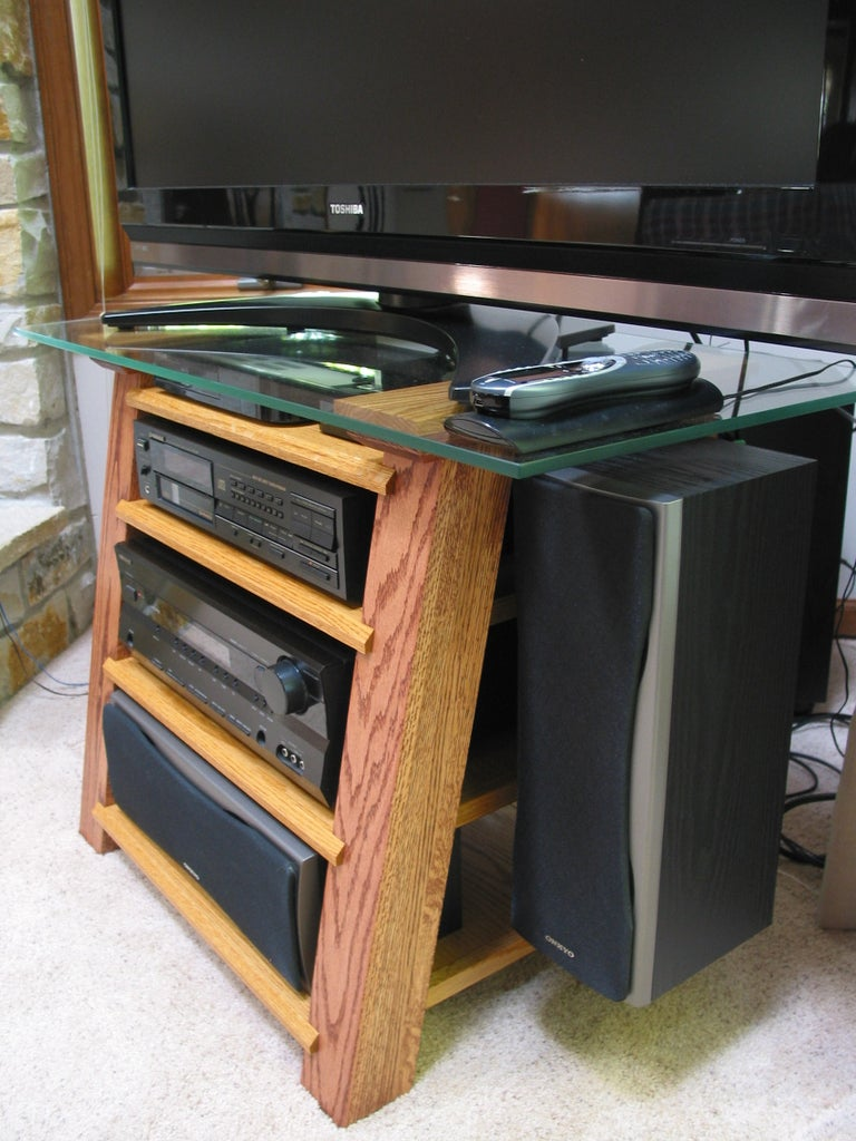Entertainment Center With Floating Speakers Built Using Pocket Hole Joinery