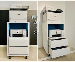 两台打印机的滚动打印机车+存储