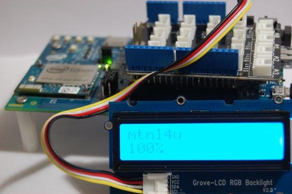 Intel Edison WiFi Network Scanner
