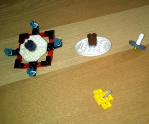 """LEGO Spinning Tops With """"how to Play Instructions"""""""