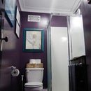 Tiny Bathroom Reveal – From Embarrassment to Moody Stunner!