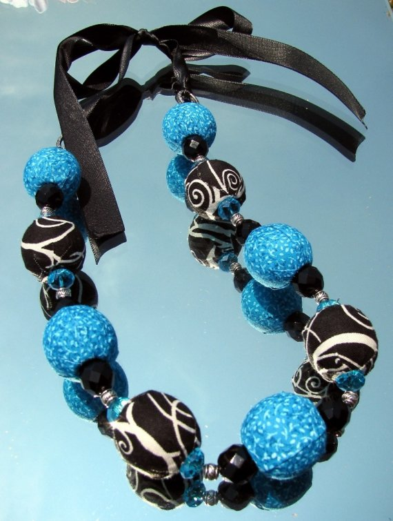How To Make Fabric Covered Beads