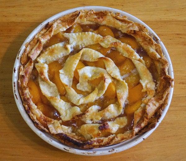 Vintage Peach Pie