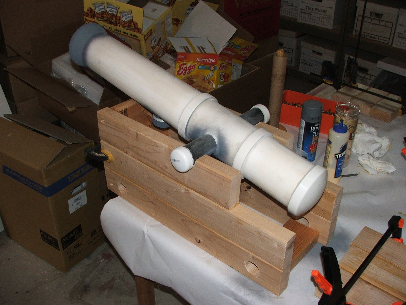 Building the Support Structure and the Barrel