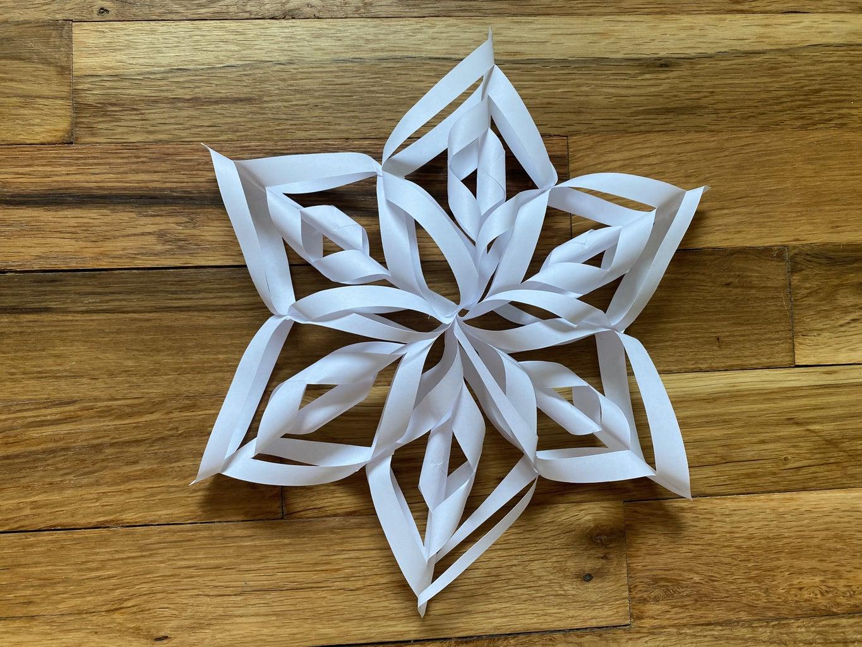 DIY 3D Paper Snowflake