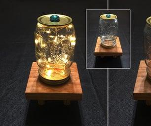 Japanese Style Mason Jar Table Top Lantern