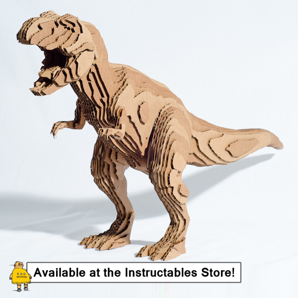 How to Slice Up a T-Rex in 123D Make