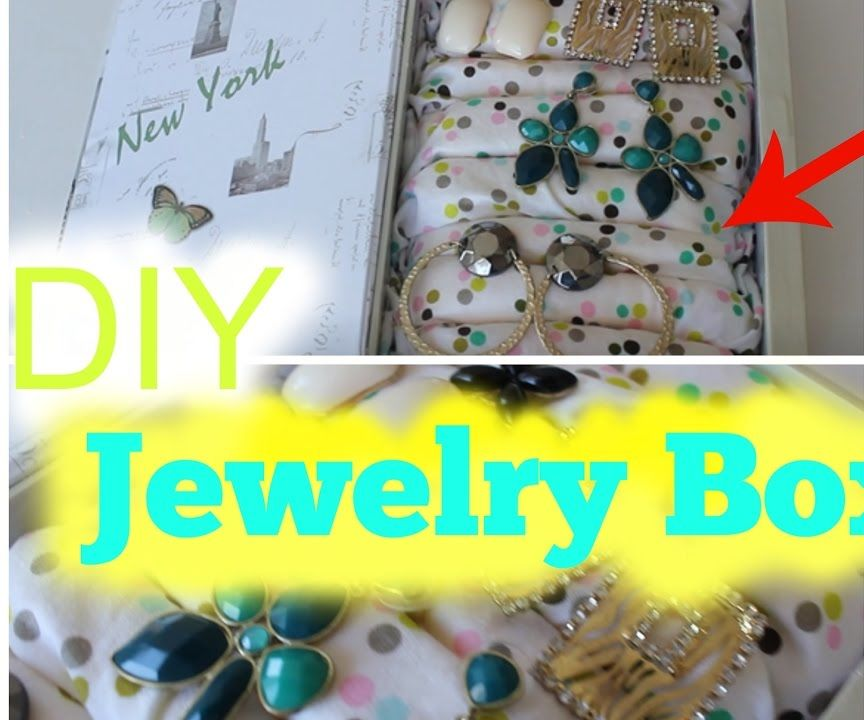 How to Make a DIY Jewelry Box Tutorial | Spring Room Decor