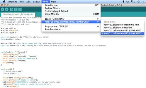 Uploading the Code to LinkIt ONE