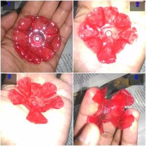 Plastic Bottle Flower- Red