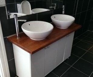 DIY Vanity Unit- IKEA Base