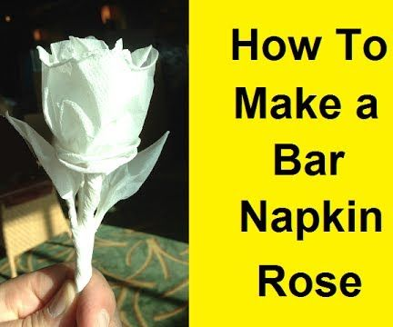 How to Make a Rose With a Bar Napkin